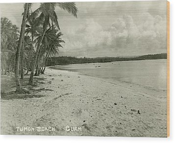 Tumon Beach Guam Wood Print by eGuam Photo