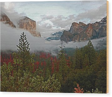 Wood Print featuring the photograph Tunnel View 12 2016 by Walter Fahmy