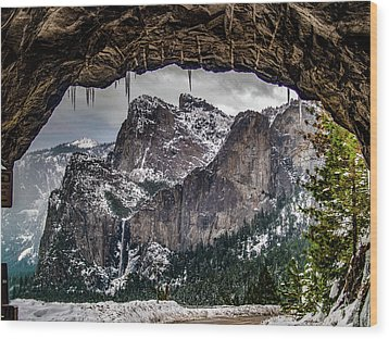 Wood Print featuring the photograph Tunnel View From The Tunnel by Bill Gallagher