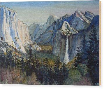 Tunnel View Yosemite Valley Wood Print by Howard Luke Lucas