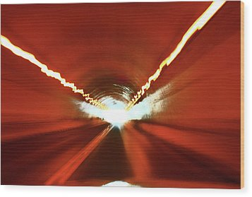 Wood Print featuring the photograph Tunnel Vision by Gray  Artus