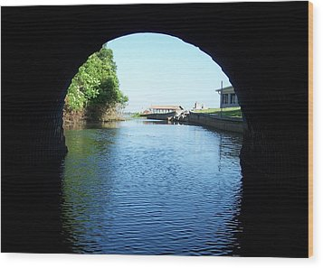 Tunnel Vison Two Wood Print by Jack Norton