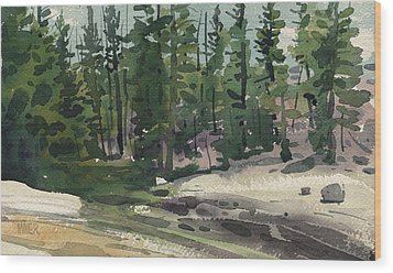 Tuolumne River Wood Print by Donald Maier