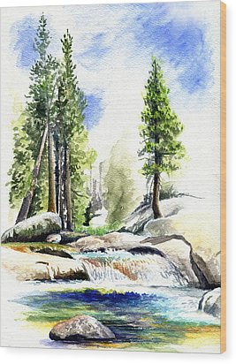 Tuolumne River On An August Afternoon Wood Print by Logan Parsons