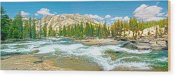 Tuolumne River Rapids Wood Print