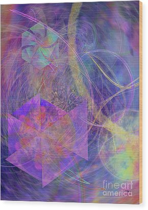 Turbo Blue Wood Print by John Beck