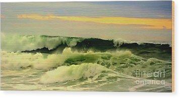 Turbulent Ocean Swell Wood Print