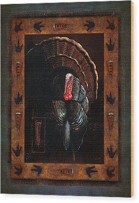 Turkey Lodge Wood Print by JQ Licensing