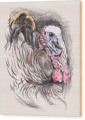 Turkey Tom Wood Print
