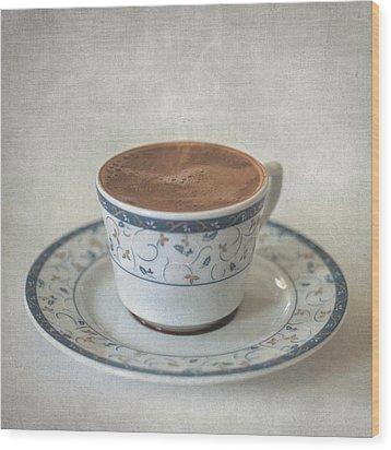 Turkish Coffee Wood Print by Taylan Apukovska