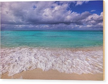 Turks And Caicos Beach Wood Print