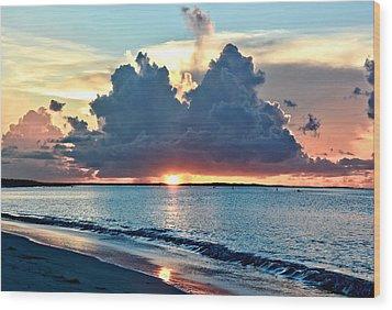 Turks And Caicos Grace Bay Beach Sunset Wood Print