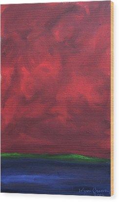 Turmoil Wood Print by Wynn Creasy