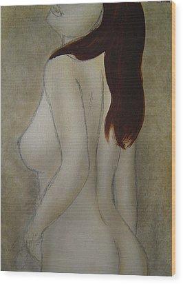 Turn To Me Wood Print by Bridgette  Allan