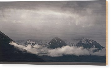 Turnagain Arm Wood Print by Andy-Kim Moeller