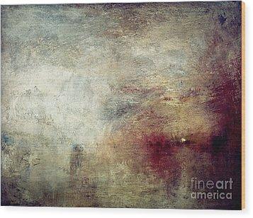 Turner: Sun Setting, C1840 Wood Print by Granger