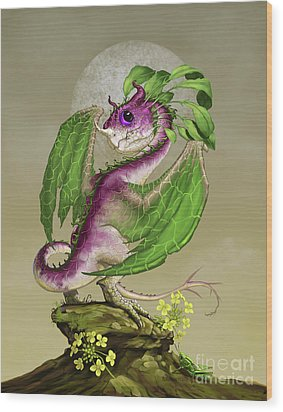 Turnip Dragon Wood Print by Stanley Morrison