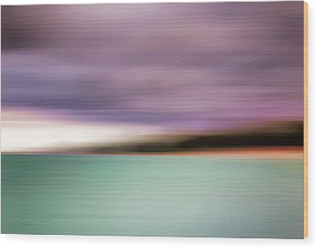 Wood Print featuring the photograph Turquoise Waters Blurred Abstract by Adam Romanowicz