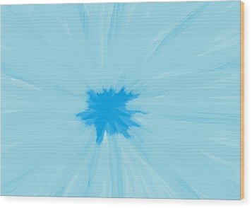 Turquoise Flower Abstract Wood Print by Linda Velasquez