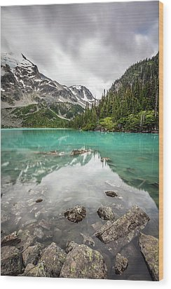 Wood Print featuring the photograph Turquoise Lake In The Mountains by Pierre Leclerc Photography