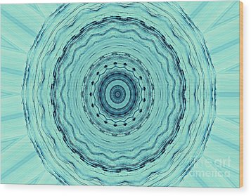 Turquoise Serenade Wood Print by Sheila Ping