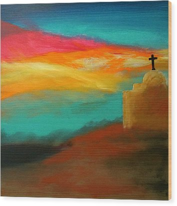 Turquoise Trail Sunset Wood Print