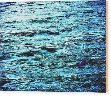 Turquoise Water Wood Print by Beth Akerman