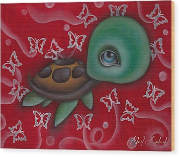 Turtle Wood Print by  Abril Andrade Griffith