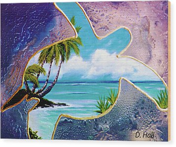 Turtle Bay #144 Wood Print by Donald k Hall