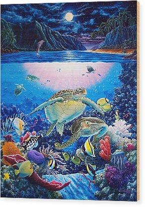 Turtle Bay Wood Print by Daniel Bergren