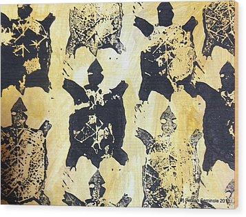 Turtle Clan Wood Print