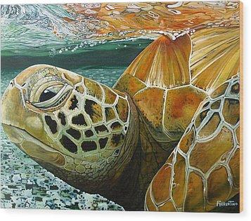 Turtle Me Too Wood Print by Jon Ferrentino