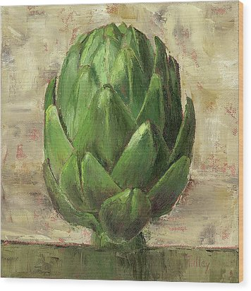 Tuscan Artichoke Wood Print by Pam Talley