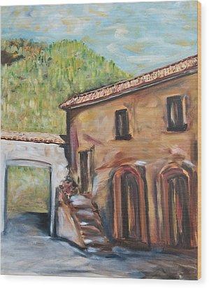 Tuscan Convent Wood Print