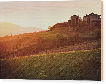 Tuscan Dream Wood Print by John and Tina Reid