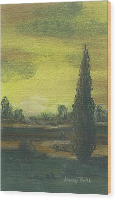 Tuscan Dusk 1 Wood Print by Shelby Kube