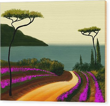 Tuscan Fields Of Beauty Wood Print