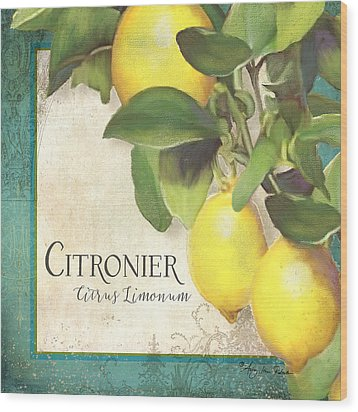 Tuscan Lemon Tree - Citronier Citrus Limonum Vintage Style Wood Print