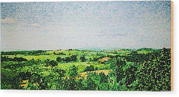 Tuscan Long View Wood Print by Jason Charles Allen