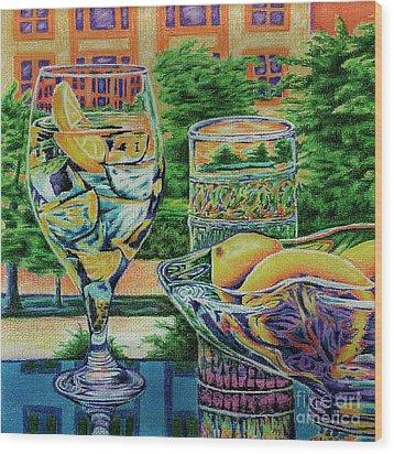 Tuscan Summer Lemonade  Wood Print by Peter Piatt