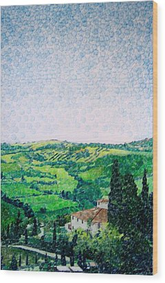 Tuscan View Wood Print by Jason Charles Allen