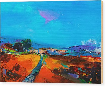 Tuscan Village Wood Print by Elise Palmigiani