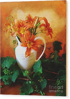 Tuscany Bouquet Wood Print by Marsha Heiken
