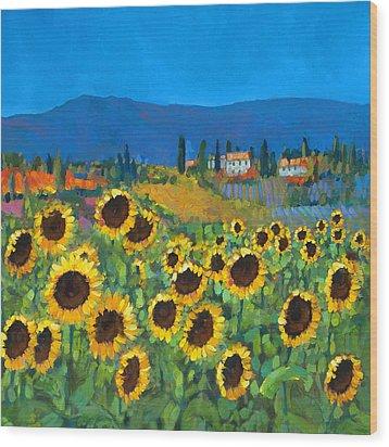Tuscany Wood Print by Chris Mc Morrow