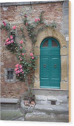Tuscany Entrance Cortona Wood Print