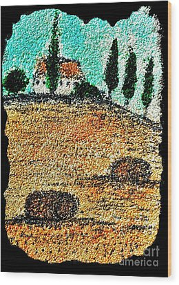 Tuscany  Wood Print by Jasna Gopic
