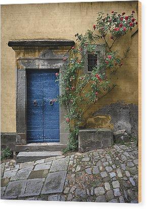 Nella's Blue Door Wood Print