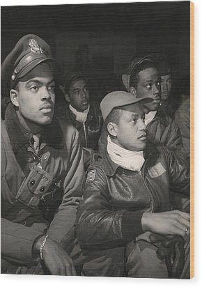 Tuskegee Airmen Of The 332nd Fighter Wood Print by Everett