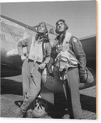Tuskegee Airmen Wood Print by War Is Hell Store