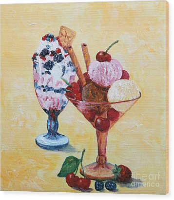 Tutti Frutti II Wood Print by Enzie Shahmiri